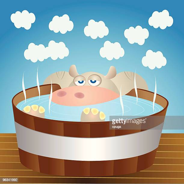 Hippo Relaxing in Hot Tub