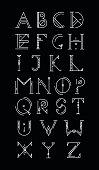 Hipster art deco font