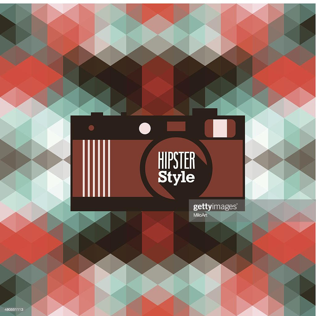 Hipster background. : Vector Art