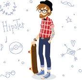 Hipster boy.
