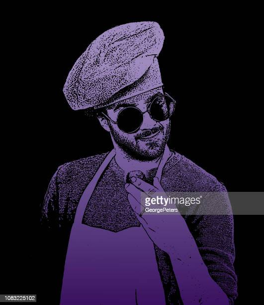 Hipster chef with cool attitude