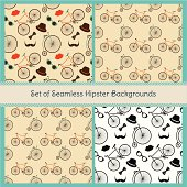 Hipster Colorful Seamless Patterns