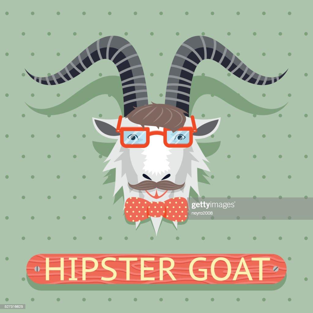 Hipster goat sign