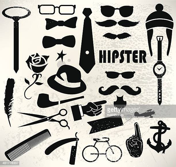 Hipster Icon Set - Modern Life, Grooming