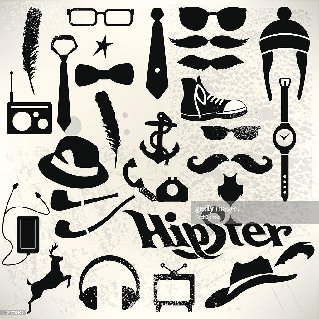 Hipster Icon Set - Modern Life, Media