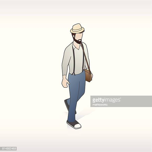 hipster-illustration - mathisworks stock-grafiken, -clipart, -cartoons und -symbole