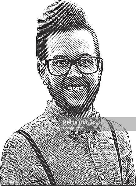 Hipster Man Portrait