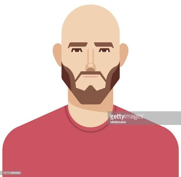 ilustrações de stock, clip art, desenhos animados e ícones de hipster man vector avatar - homens jovens