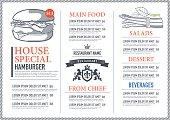 Hipster restaurant menu design