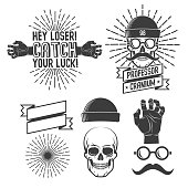 Hipster s with skull