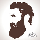 Hipster Silhouette Profile Man