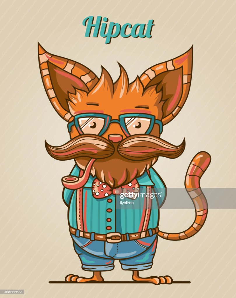 Hipster style cat