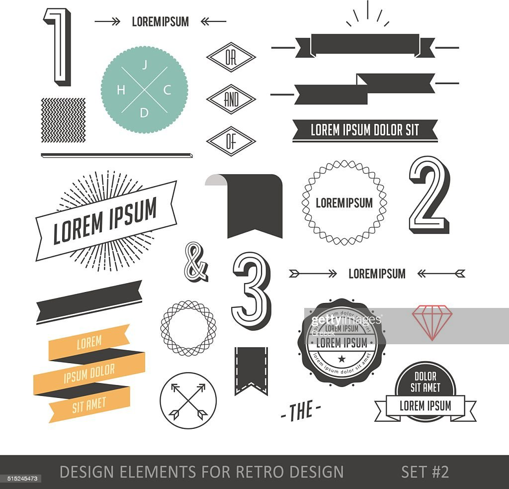 Hipster style infographics elements set for retro design