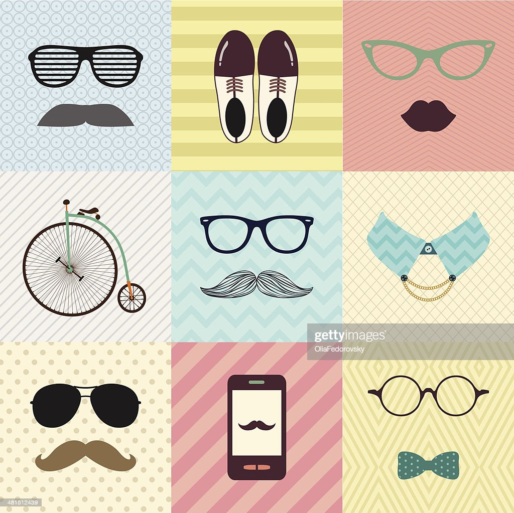 Hipster Vintage Cute Fashion Background
