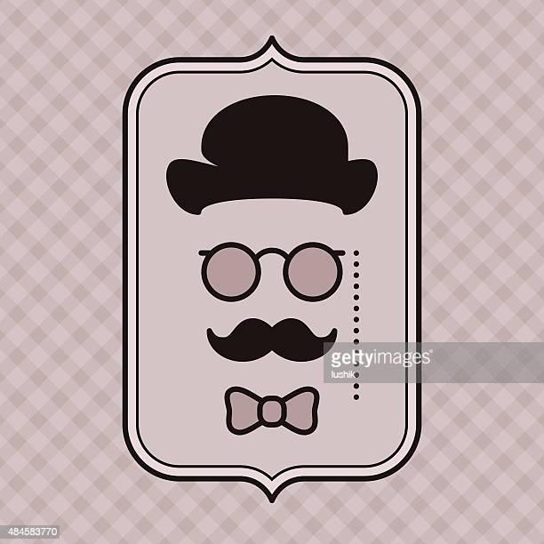 Hipster - Vintage gentleman silhouette