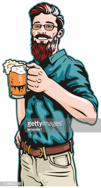 Hipster With Beer