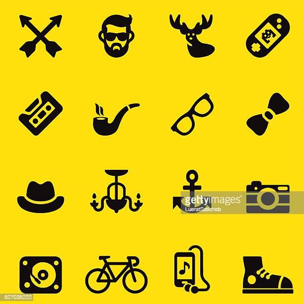 Bas de bikini jaune/Silhouette icônes EPS10