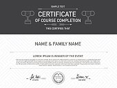 hipsters certificate Design Template.