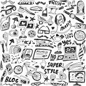 hipsters - doodles set