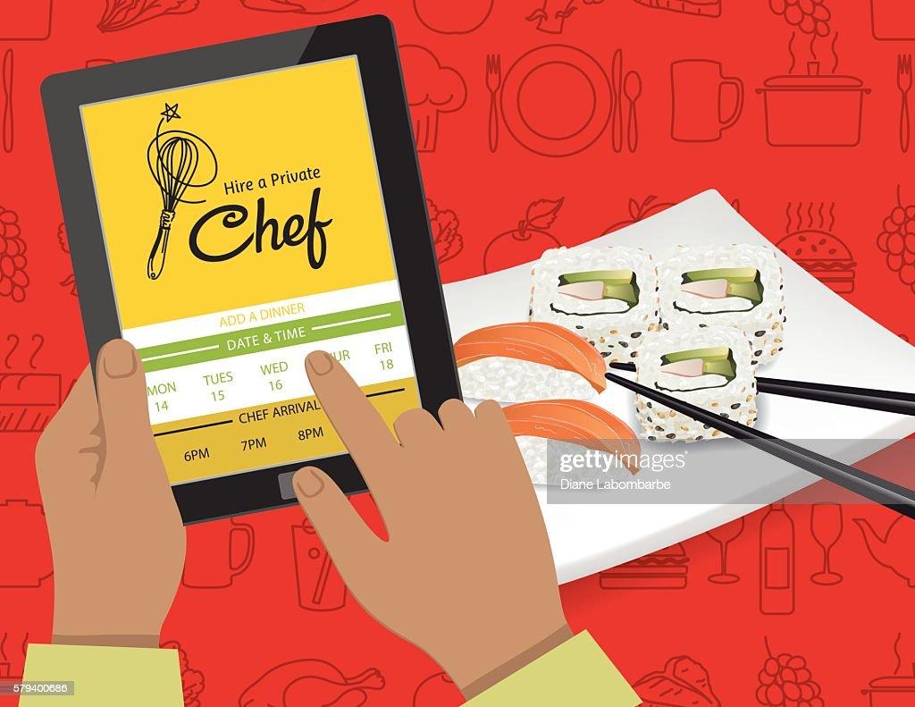 Hire A Private Chef Mobile App