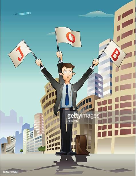 hire me! - semaphore stock illustrations