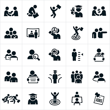 Hiring and Employment Icons - gettyimageskorea