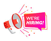 Hiring recruitment design poster