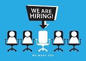 Hiring recruitment employment concept