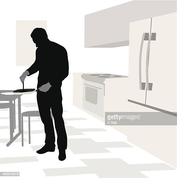His Cooking Vector Silhouette