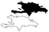 Hispaniola map vector