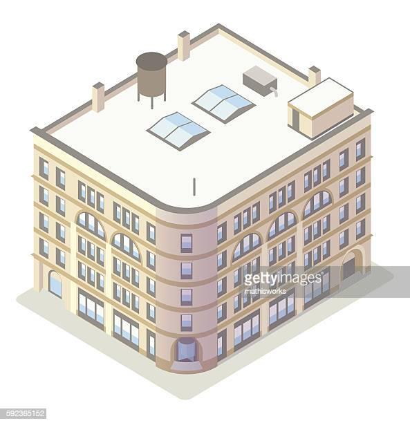 Historic office building illustration