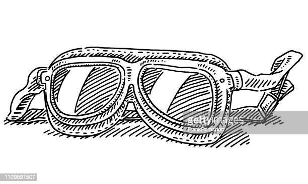 Historic Racing Brille Zeichnung