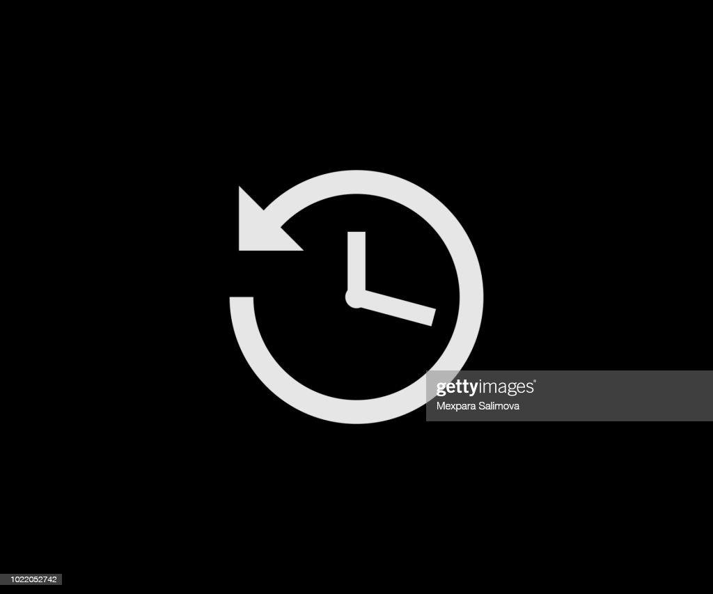 History clock button
