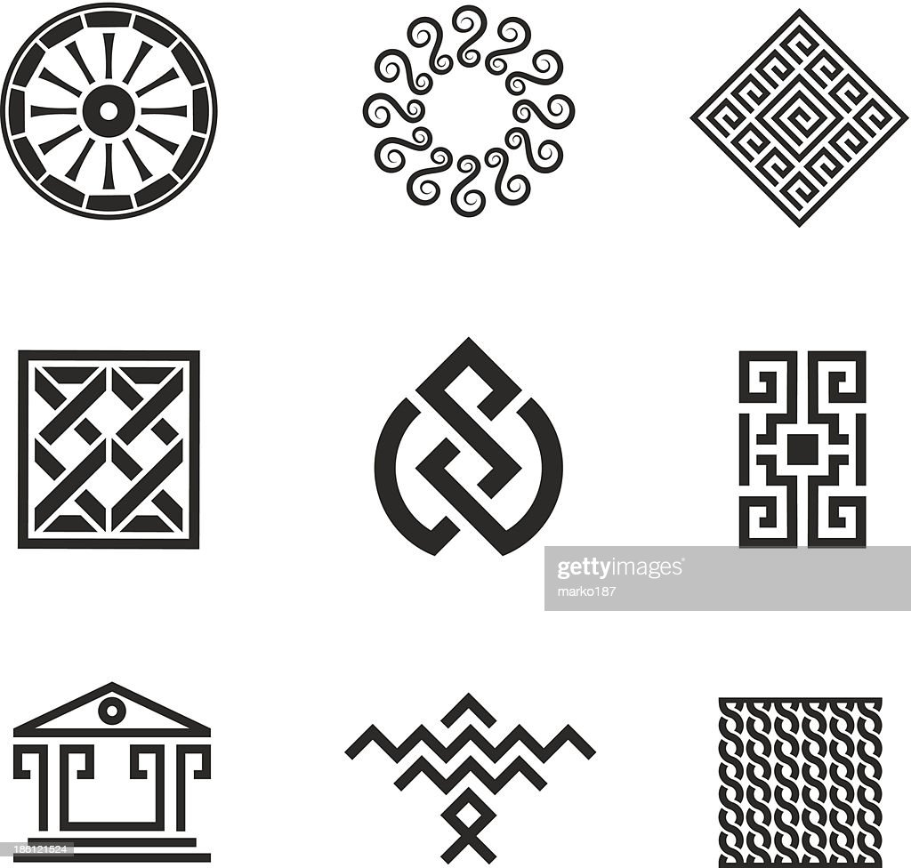 History decoration and ornament picture style logo template