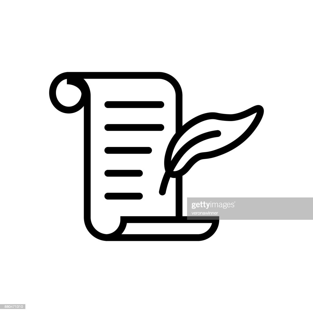 History icon. Black and white vector sign