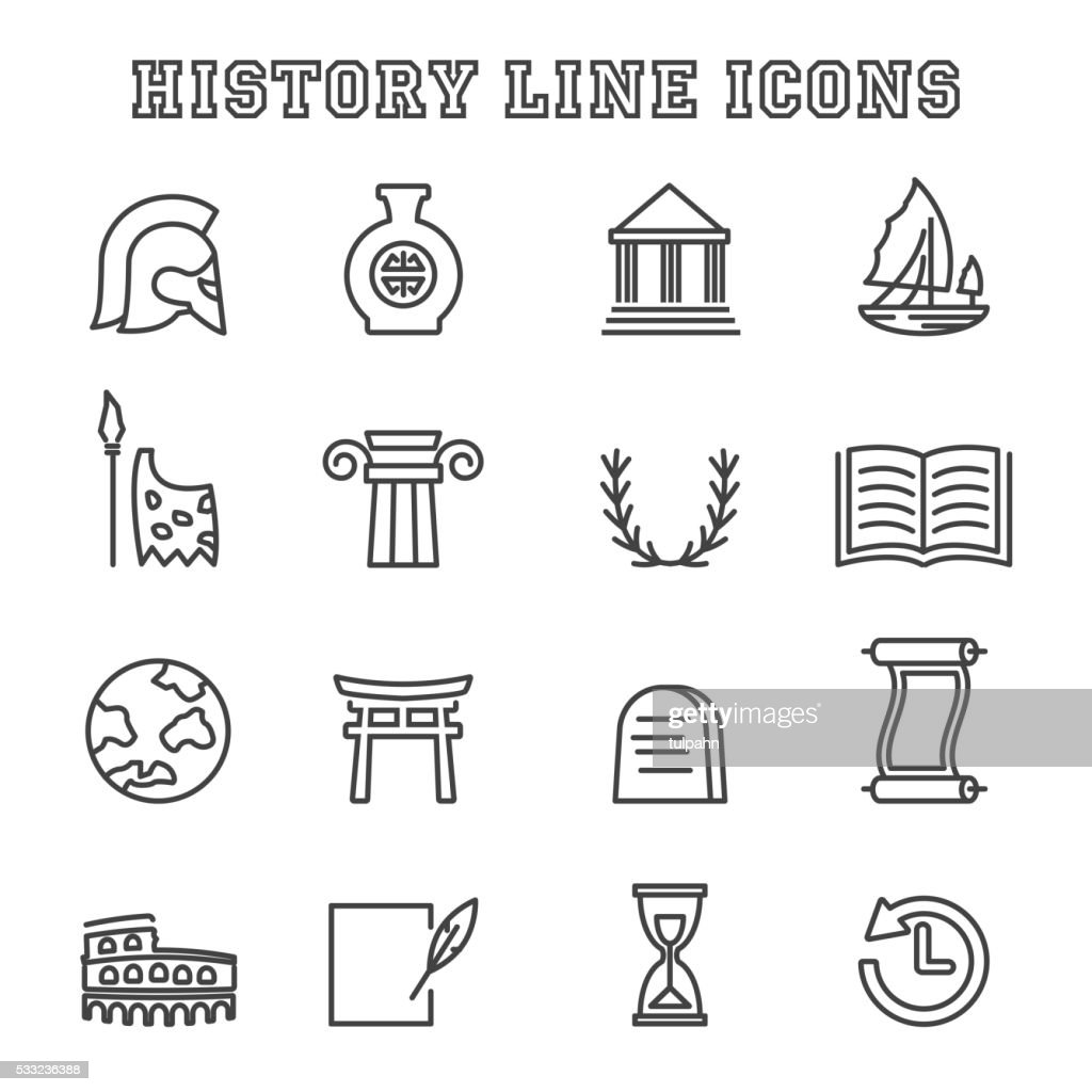 history line icons