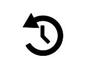 history list button icon design set illustration,glyph style design