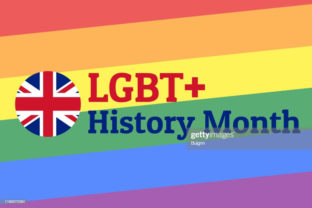 LGBT History Month. Concept of annual month-long observances with traditional rainbow colors. Template for background, banner, card, poster with text inscription. Vector EPS10 illustration. : Stock Illustration