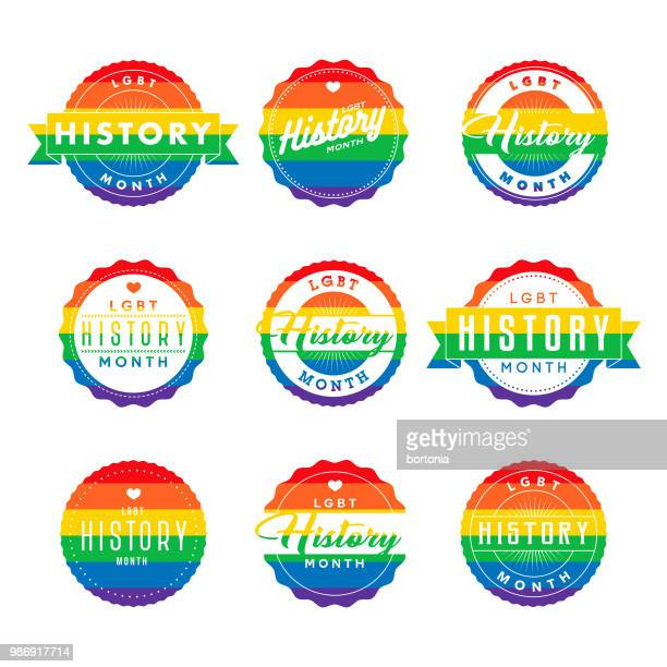 LGBT History Month Icon Set