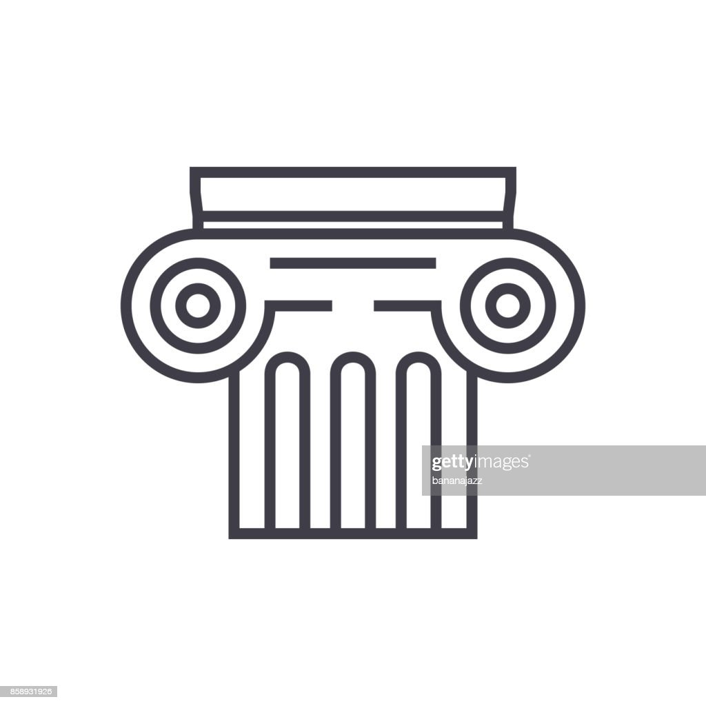 history vector line icon, sign, illustration on background, editable strokes