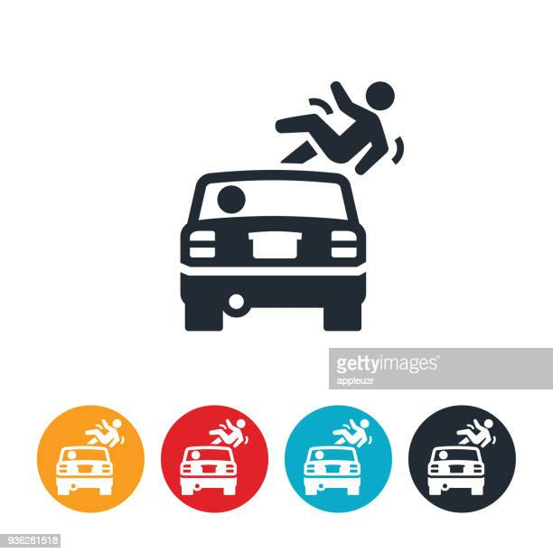 hit and run icon - misfortune stock illustrations, clip art, cartoons, & icons
