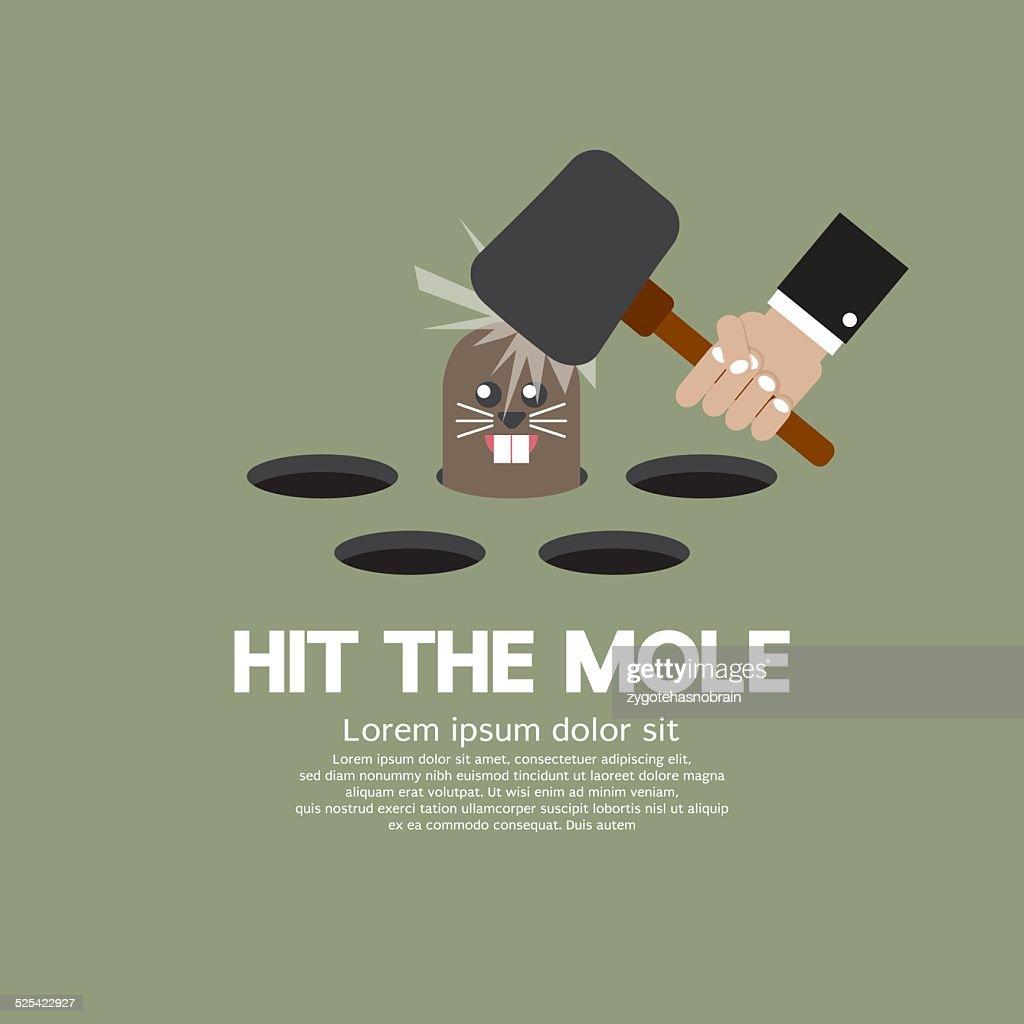 Hit The Mole Fun Game Vector Illustration