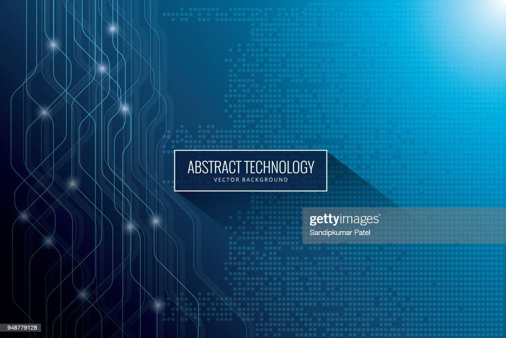 Hi-tech digital communication concept on the blue background : stock illustration