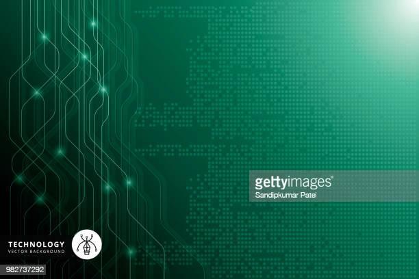 Concepto de alta tecnología de comunicación digital sobre el fondo verde