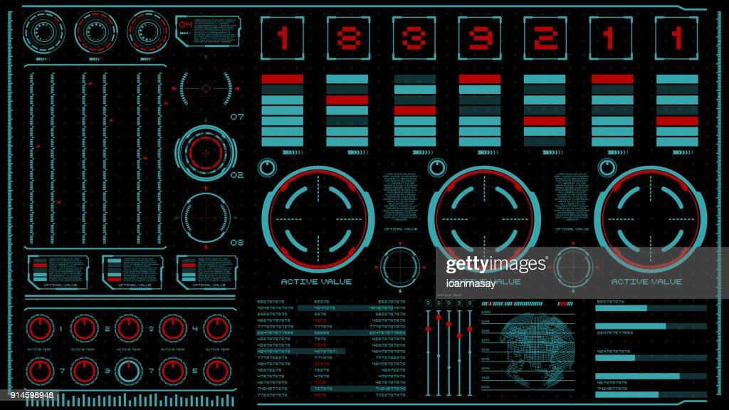 hi-tech interface on dark background