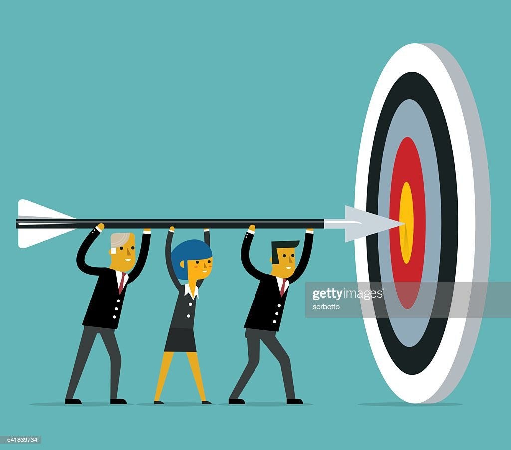 Hitting the target : stock illustration