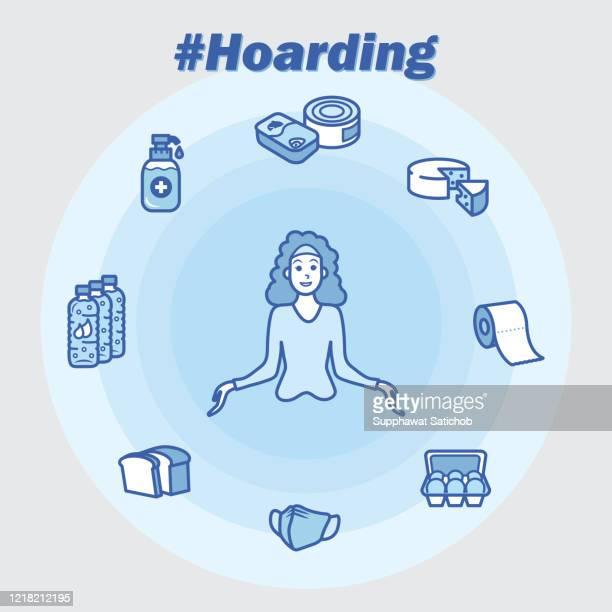 hoarding poster - quarantine clip art stock illustrations