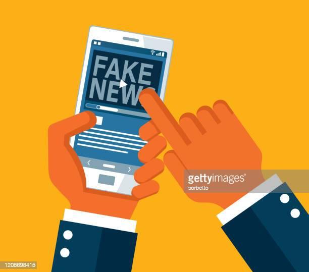 ilustrações, clipart, desenhos animados e ícones de farsa e fake news - fake news