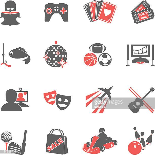 hobbies icons - go carting stock illustrations, clip art, cartoons, & icons