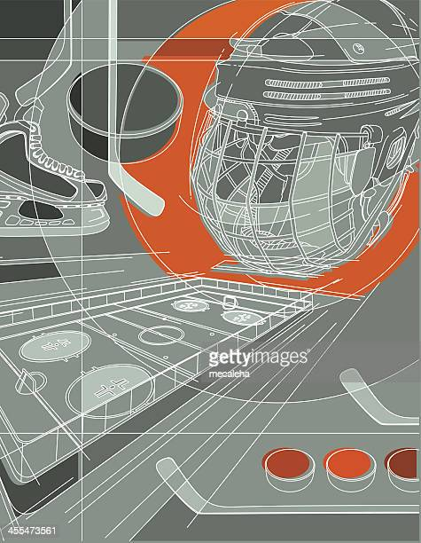 ホッケーの背景 - アイスホッケー場点のイラスト素材/クリップアート素材/マンガ素材/アイコン素材
